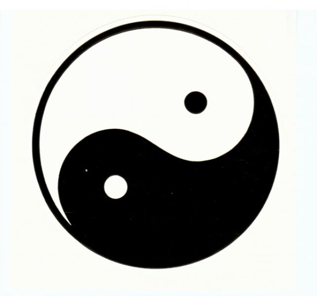 Aufkleber-Set, Yin + Yang