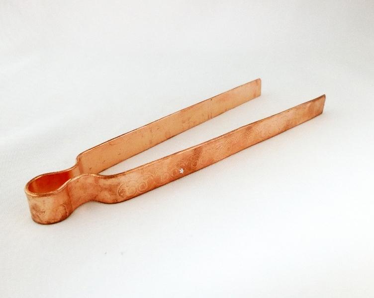 Kupferzange mit Gravur